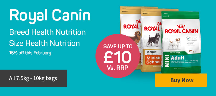 15% off Breed Health and Size Health nutrition this February