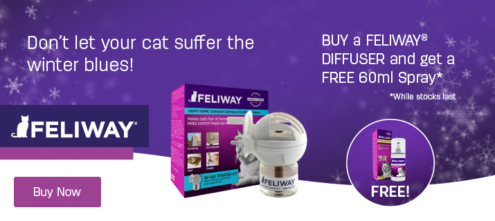FREE feliway spray with diffuser+refill packs