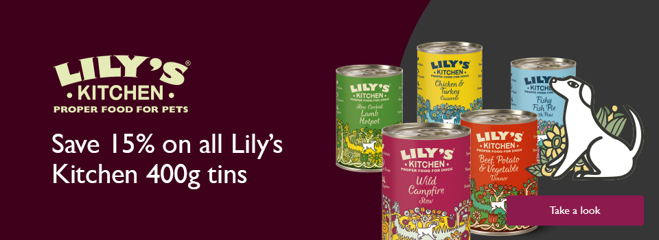 Lily's Kitchen - save 15% on 400g tins