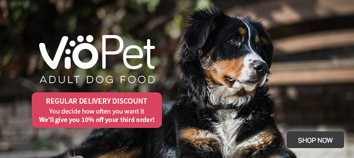 Regular delivery savings with VioPet dog food