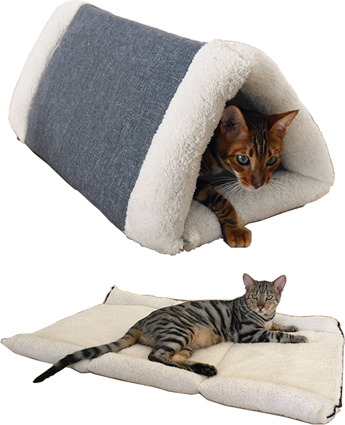 40 Winks Bedding Snuggle Plush 2 in 1 Cat Comfort Den