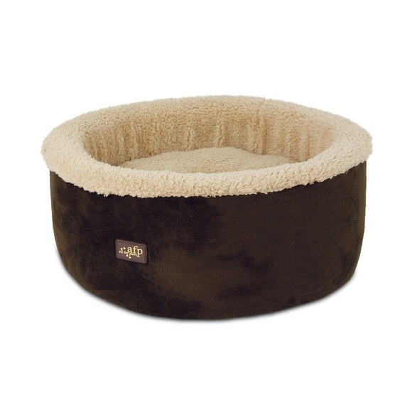 All For Paws Lamb Curl & Cuddle Cat Bed