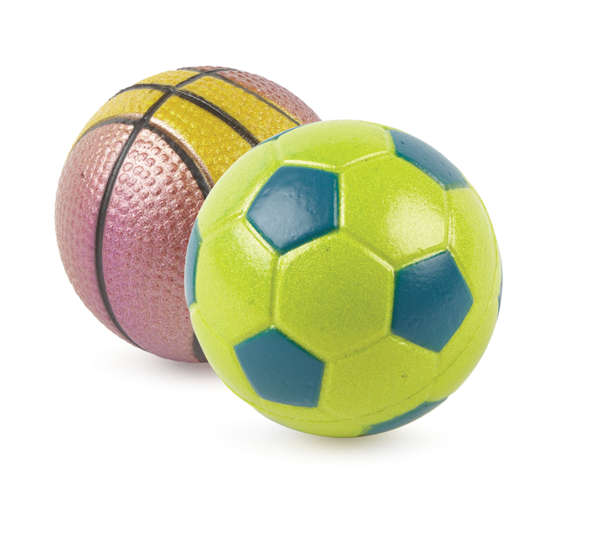 Ancol Assorted Sports Balls Dog Toys