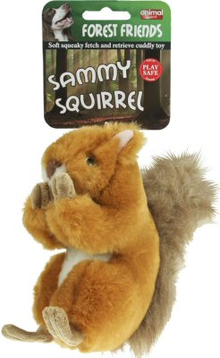 Animal Instincts Sammy Squirrel Plush Dog Toy