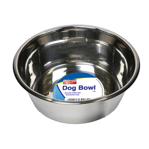 Animal Instincts Stainless Steel Dog Bowl