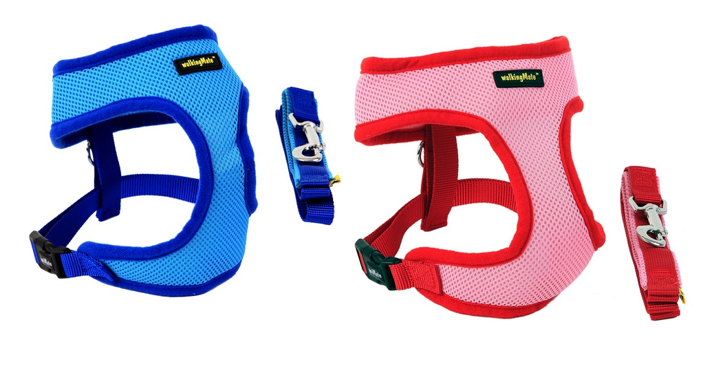 Animate Walking Mate Soft Mesh Dog Harness & Lead