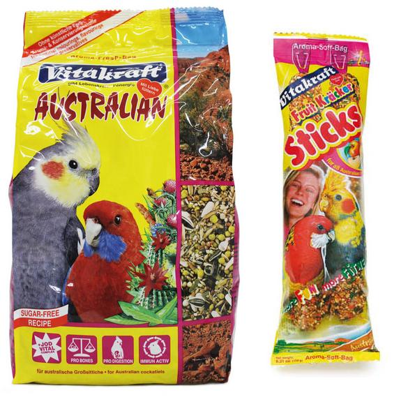 Vitakraft Australian Cockatiel Bird Treats & Food