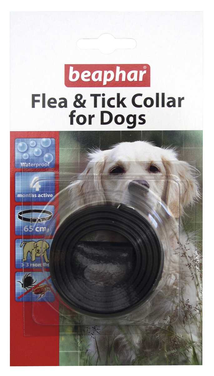 Beaphar Plastic Flea & Tick Collar for Dogs