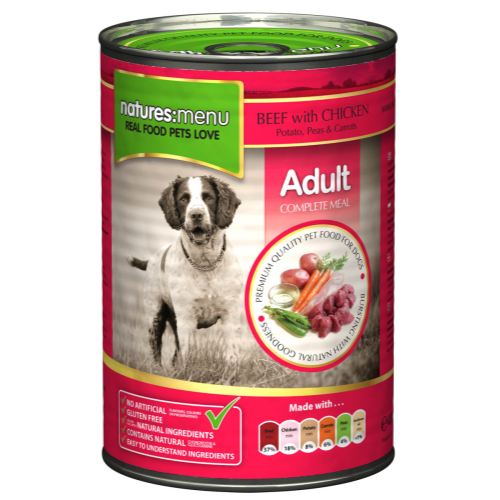 Natures Menu Beef with Chicken Canned Dog Food