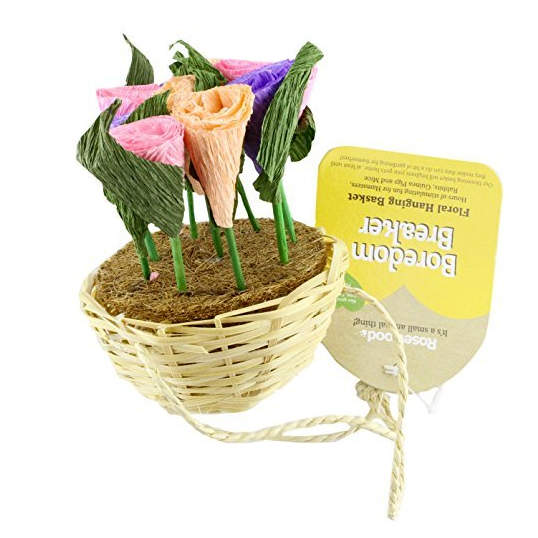 Boredom Breaker Floral Hanging Basket for Small Animals