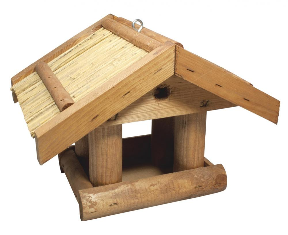 C J Wild Bird Foods Thatched Hanging Bird Table