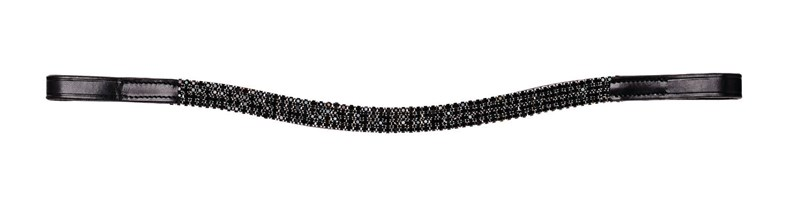 Caldene Curved 4 Row Diamante Browband