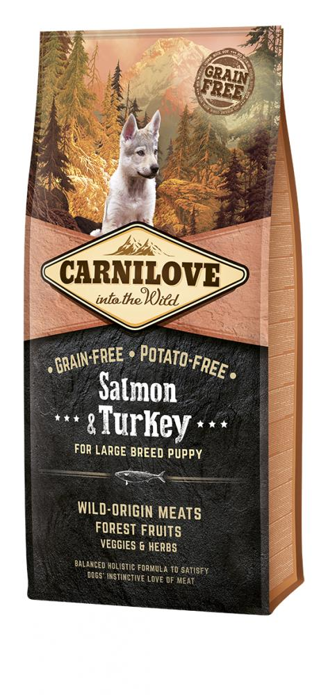 Carnilove Salmon & Turkey For Large Breed Puppy Food
