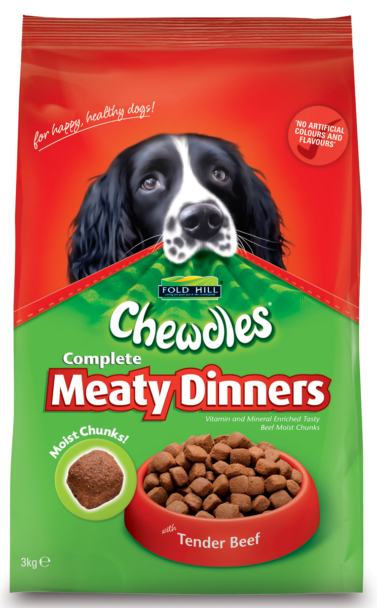 Fold Hill Chewdles Meaty Dinners Dog Food