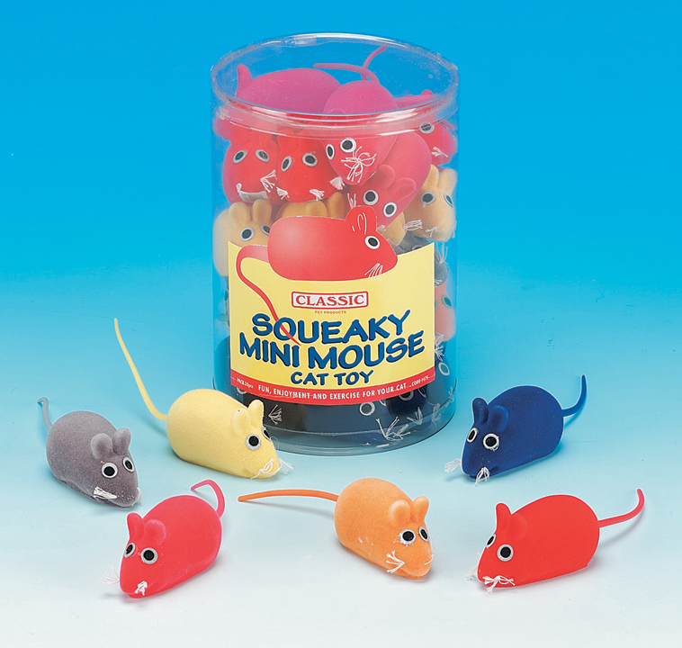 Classic Squeaky Mini Mouse Cat Toy