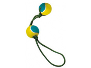 Companion 2 Tennis Balls On Elastic Rope Dog Toy