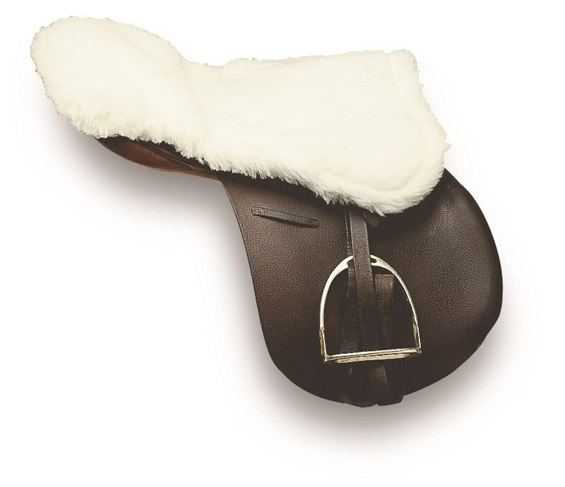 Cottage Craft Simulated Sheepskin Saddle Seat Saver