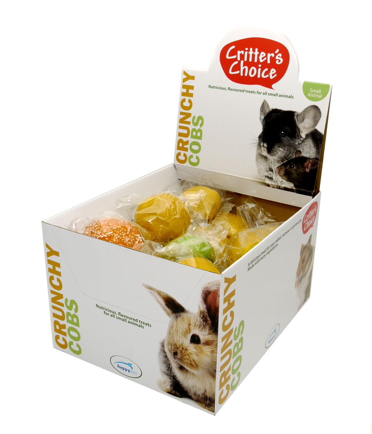 Critter's Choice Assorted Crunchy Cobs Small Animal Treats