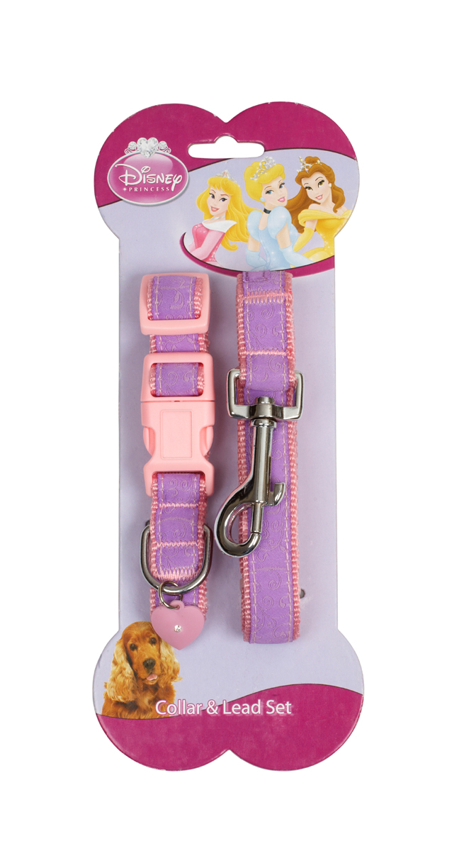 Disney Princess Dog Collar & Lead Set