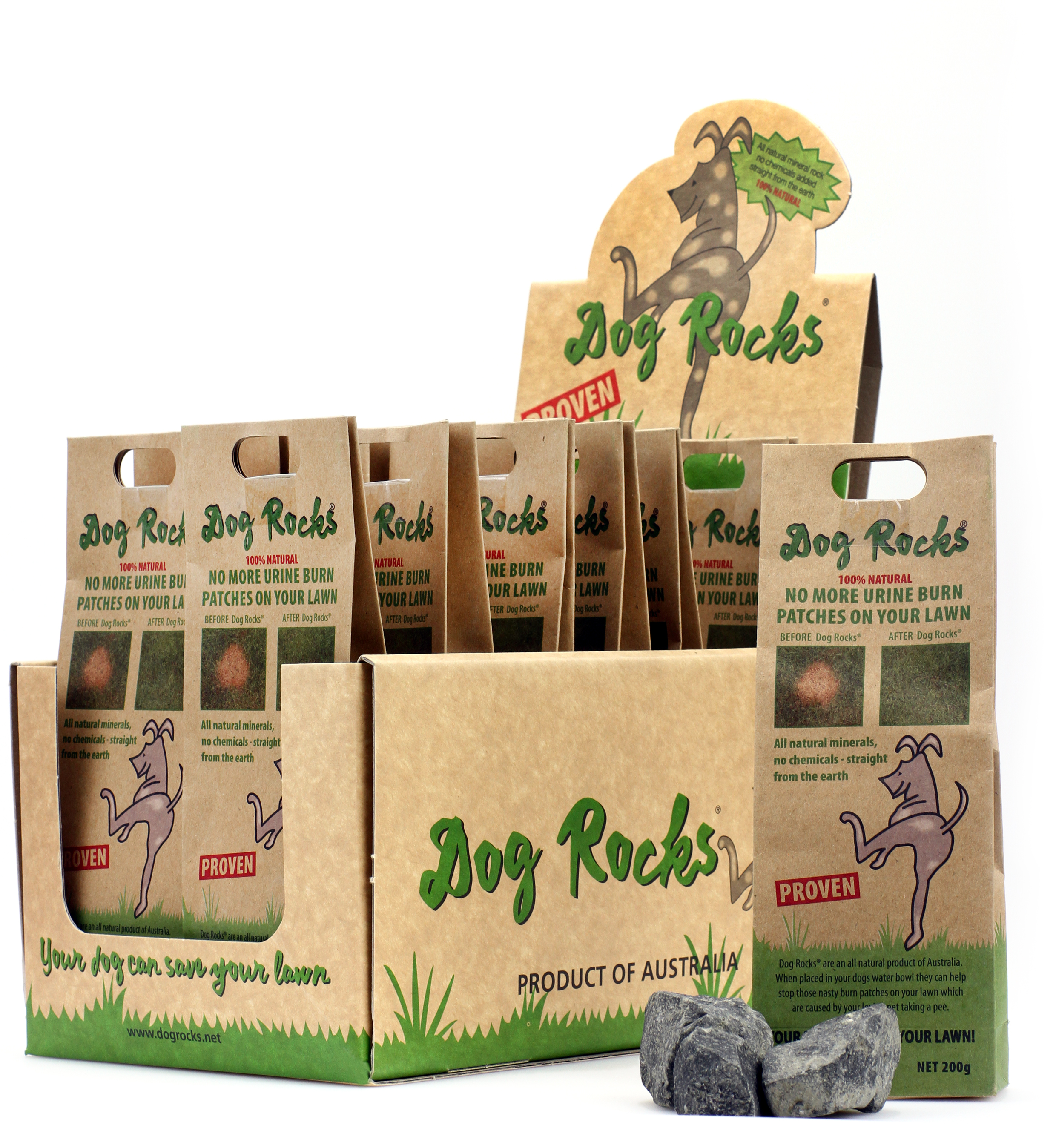 Lawn Protecting Dog Rocks