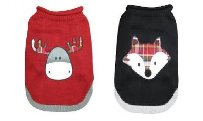 Dogit Plaid Christmas Sweater for Dogs
