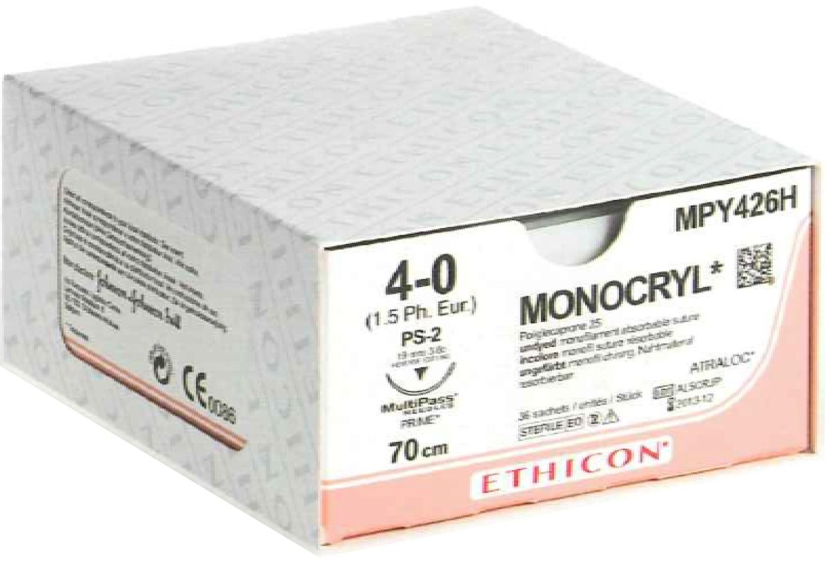 Ethicon Taper Point Monocryl Suture