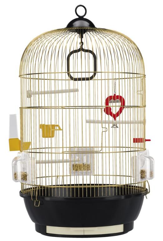 Ferplast Diva Brass Round Bird Cage For Canaries Exotic
