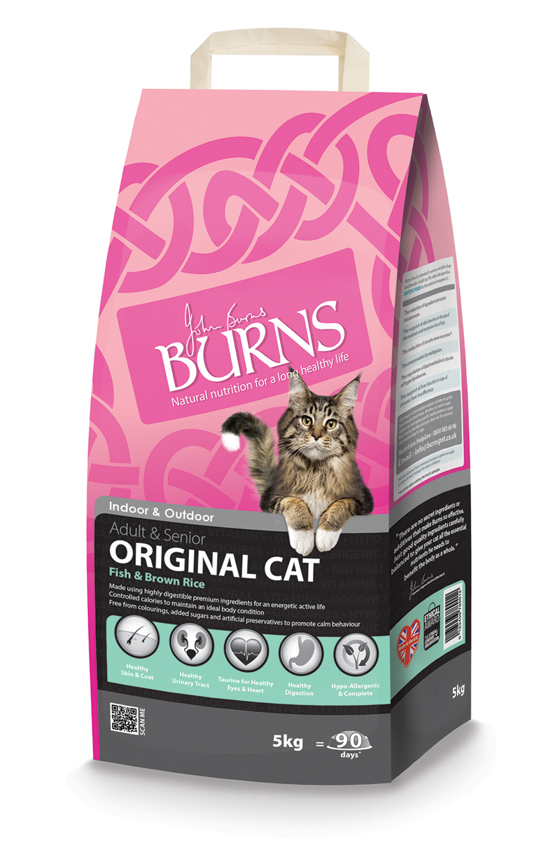Burns Original Fish & Brown Rice Adult & Senior Cat Food