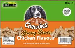 Fold Hill Chewdles Chicken Gravy Bones Dog Biscuits