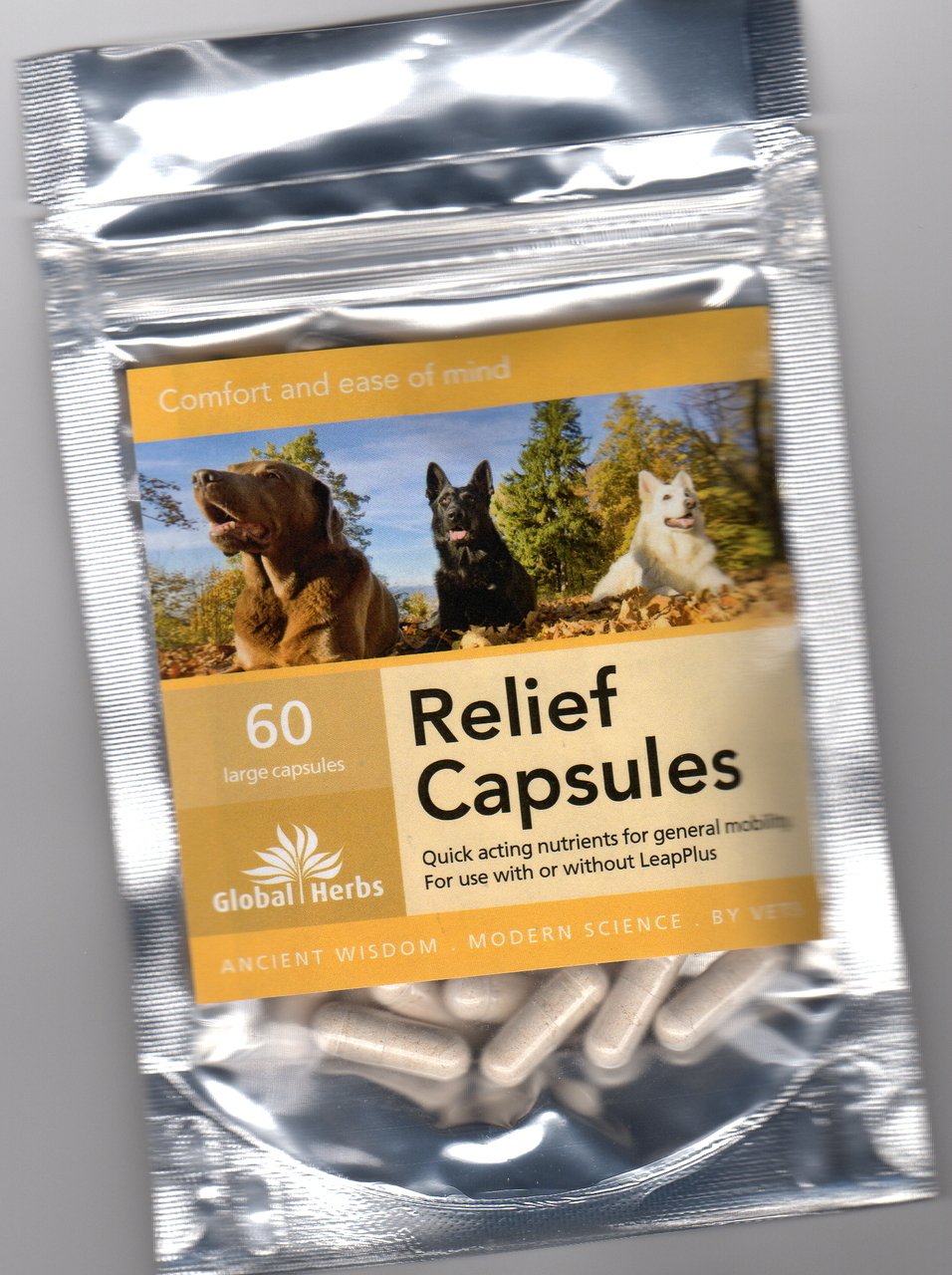 Global Herbs Relief Capsules for Dogs