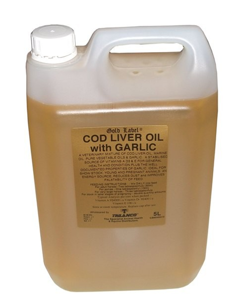 Gold Label Cod Liver Oil With Garlic for Horses