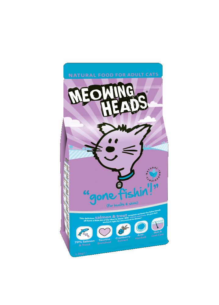 Meowing Heads Gone Fishing Cat Food