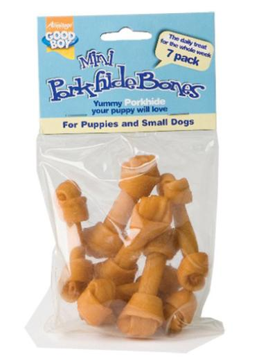 Good Boy Mini Porkhide Knots Puppy & Small Dog Treats