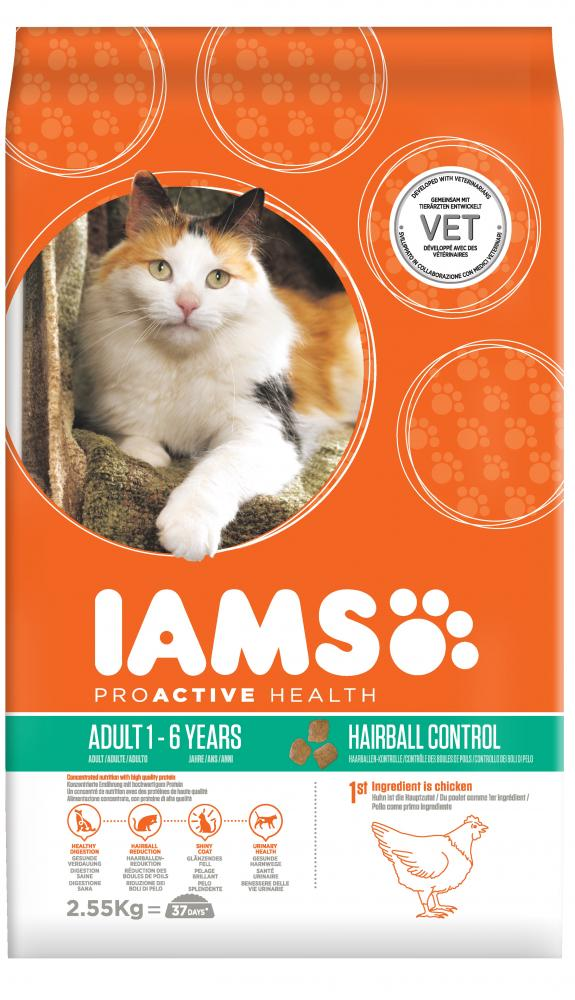 Iams Proactive Health Adult Hairball Chicken Cat Food