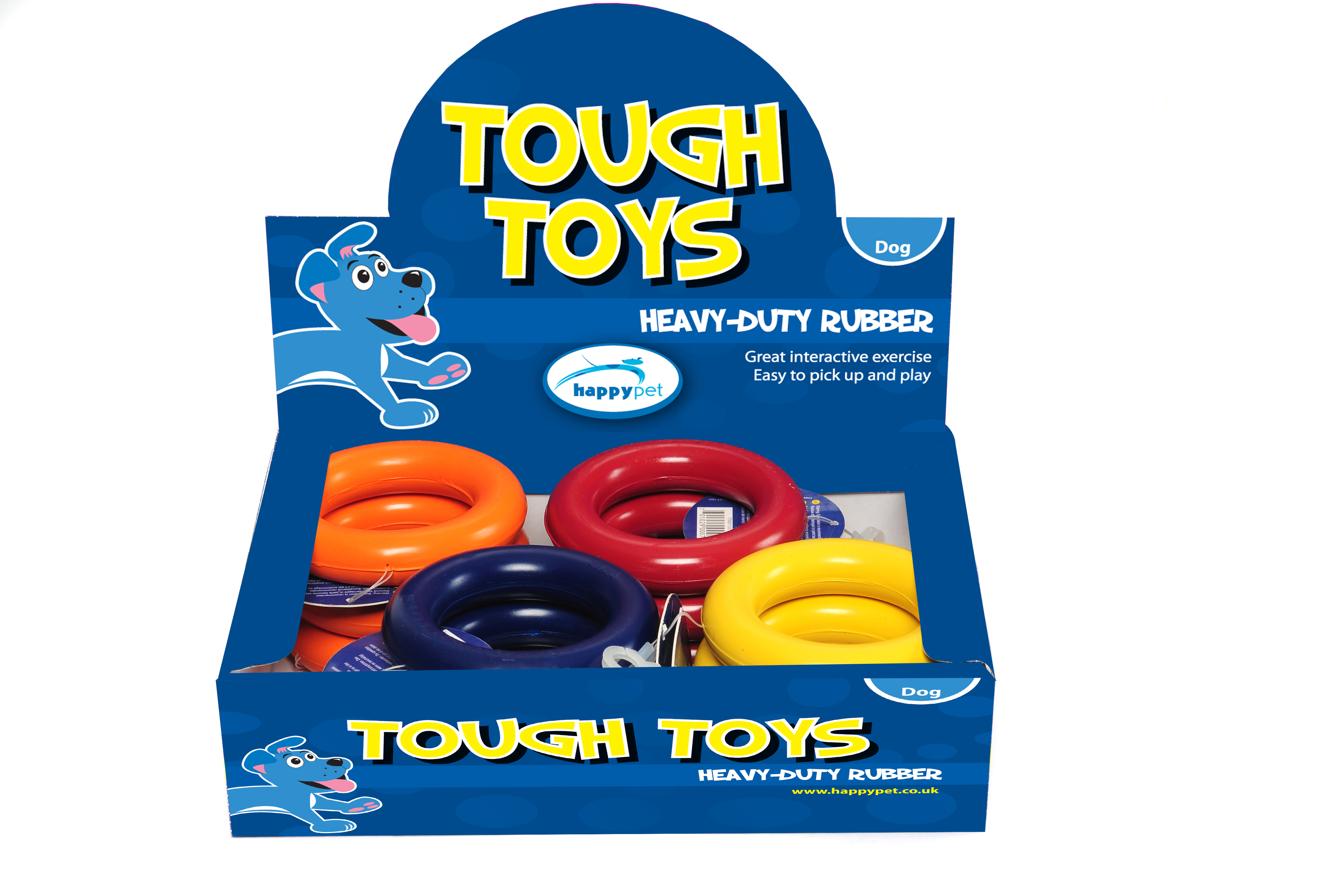 Happy Pet Tough Toys Rubber Ring Dog Toy