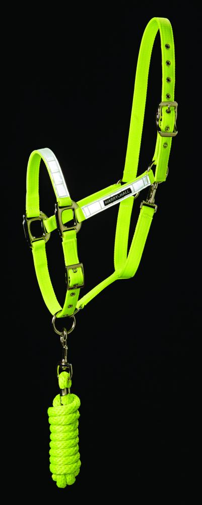 Harry Hall Hi Viz Headcollar & Leadrope