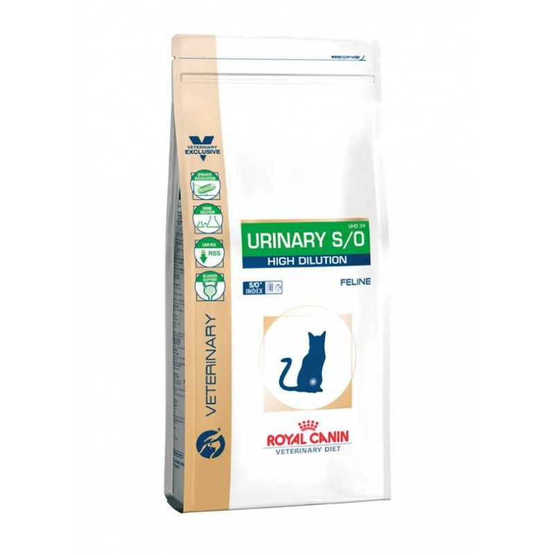 Royal Canin Feline Urinary S/O High Dilution UHD 34 Cat Food