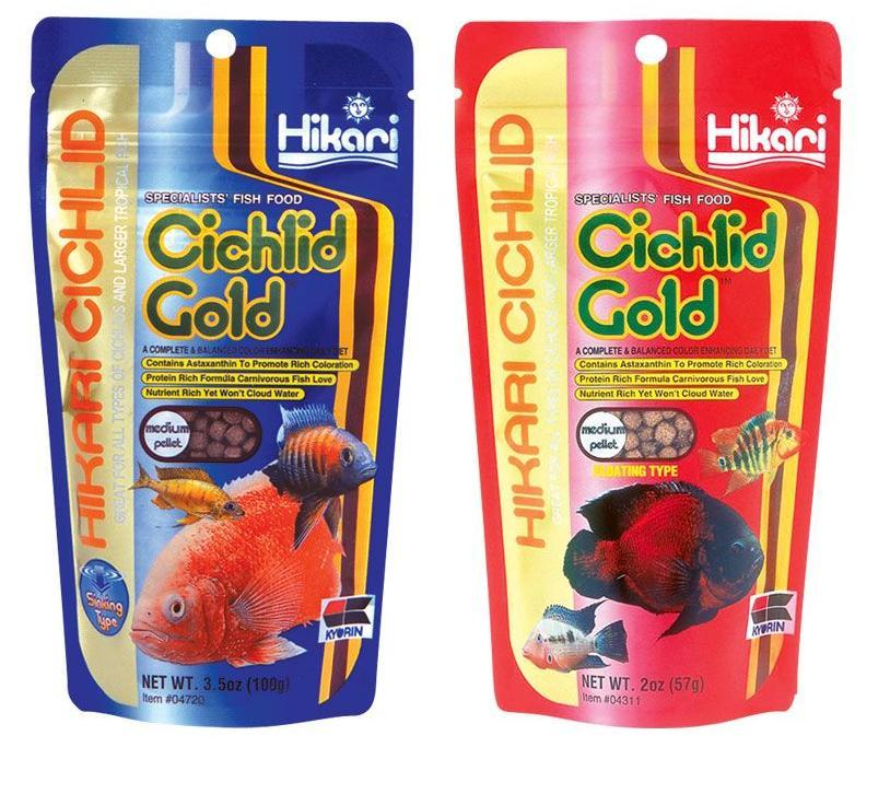 Hikari cichlid gold aquarium fish food for Hikari fish food