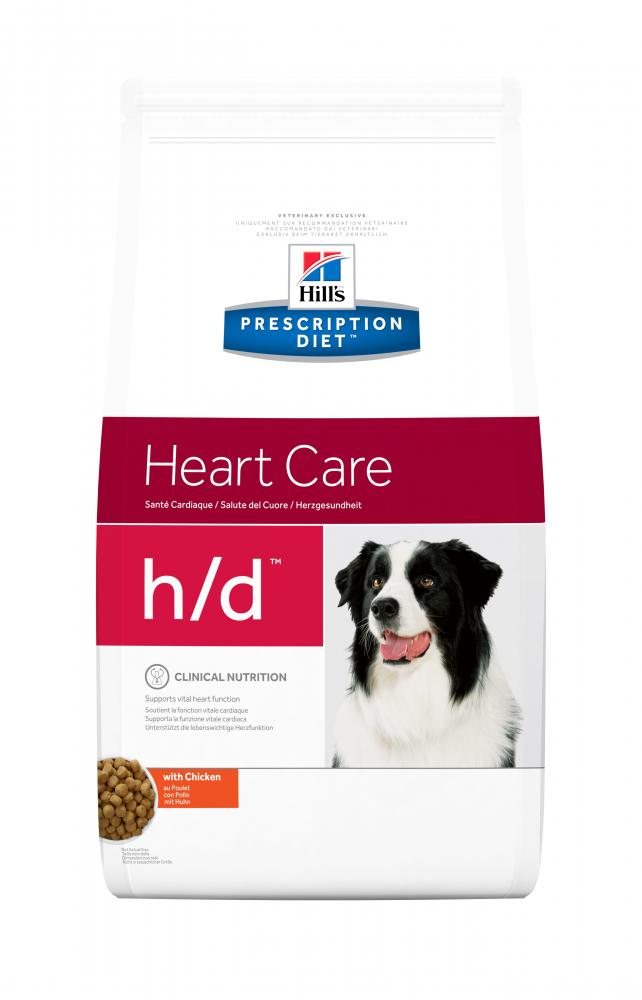 Hill's Prescription Diet h/d Heart Care with Chicken Flavor Dog Food