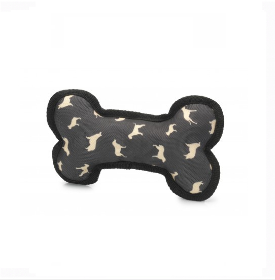 House of Paws Silhouette Print Bone Dog Toy
