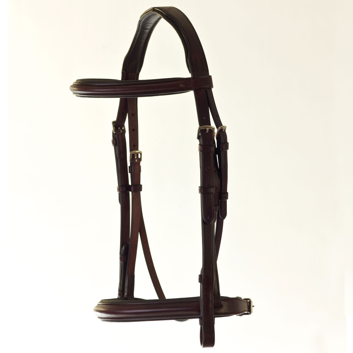 HyCLASS Deluxe Padded Headpiece Cavesson Bridle