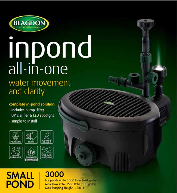 Interpet blagdon inpond all in one pumps for What size pond pump do i need