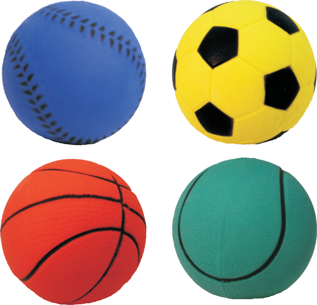 James & Steel Assorted Sports Balls Dog Toys