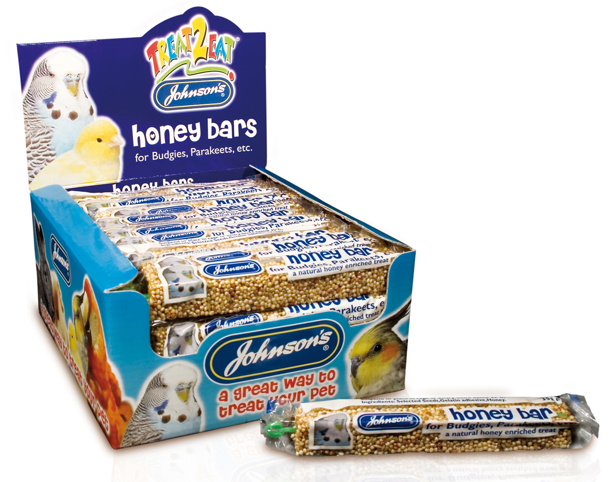 Johnson's Treat 2 Eat Honey Bars Bird Treats