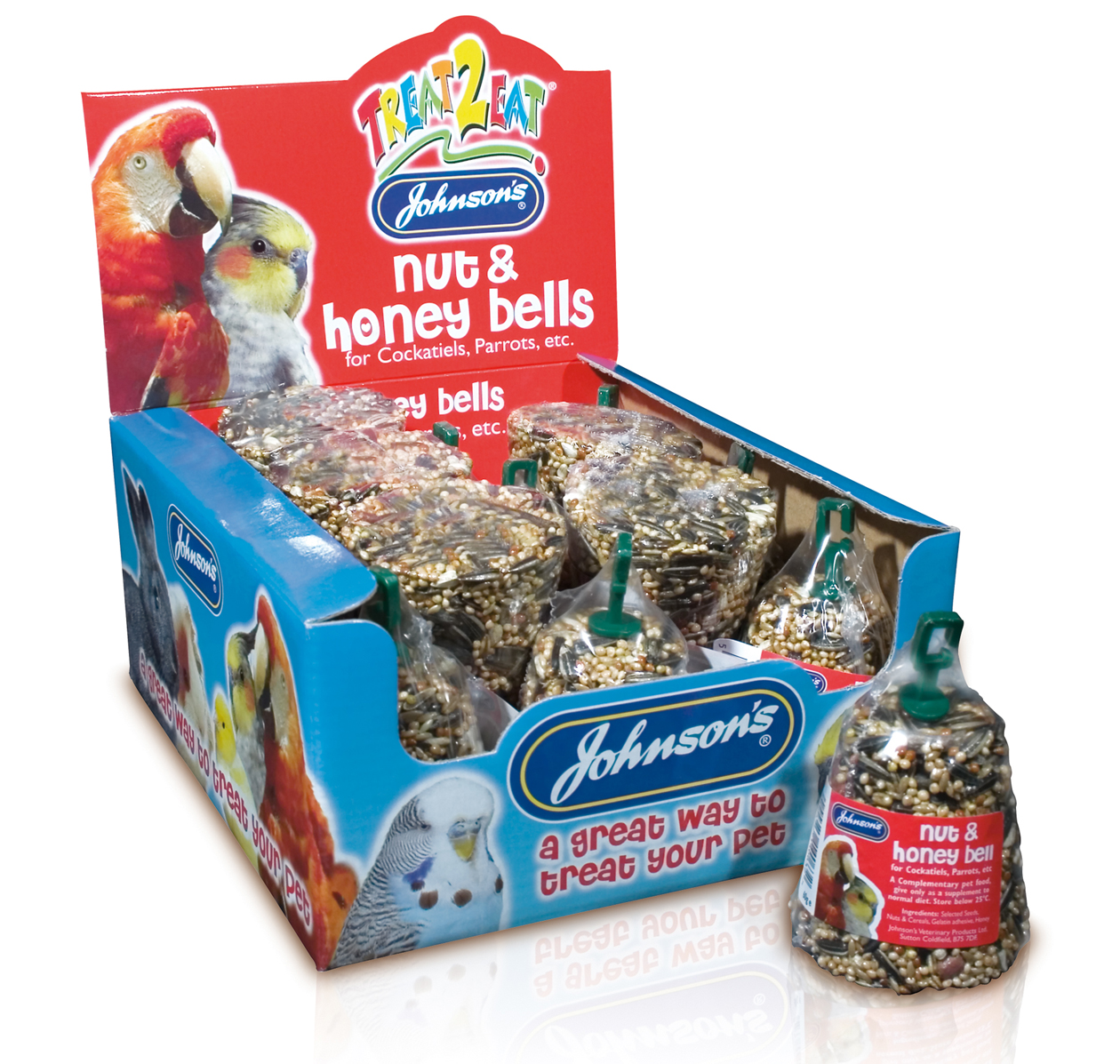 Johnson's Treat 2 Eat Nut & Honey Bird Treat