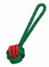 Jolly Doggy Christmas Rubber and Rope Tug