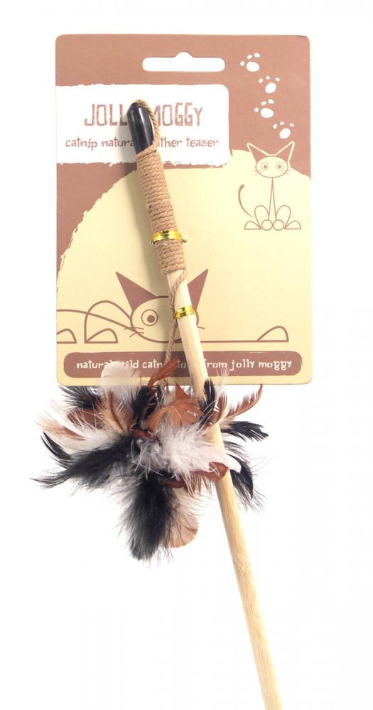 Jolly Moggy Catnip Natural Feather Teaser