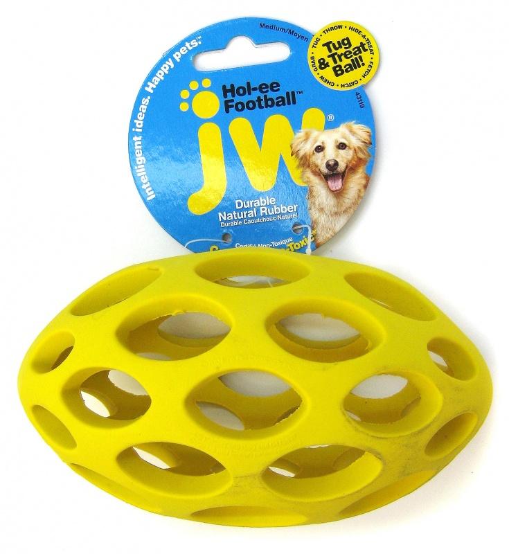 jw pet hol ee football dog toy