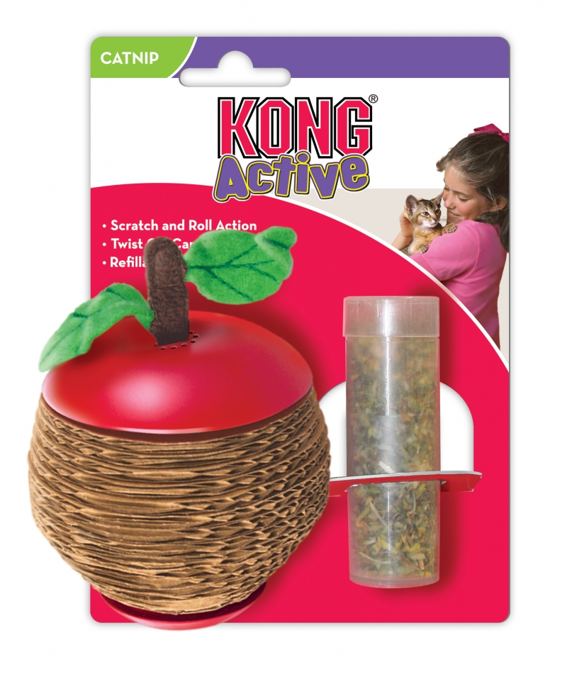 Kong Cat Scratch Apple Catnip Toy