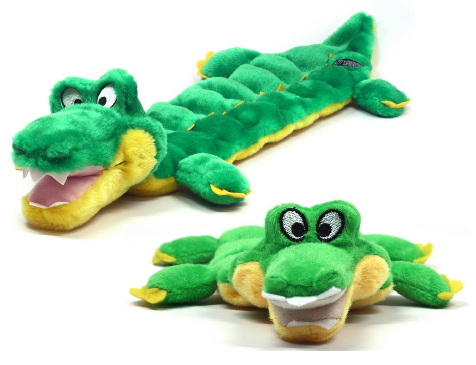 Kyjen Squeaker Mat Long Body Gator Dog Toy